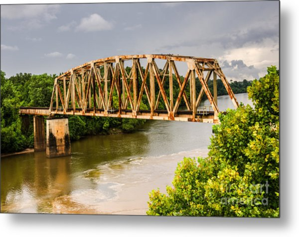 Rusty Old Railroad Bridge Metal Print
