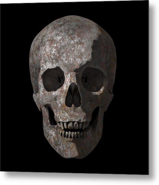 Rusty Old Skull Metal Print
