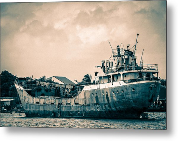Rusty Ship Metal Print