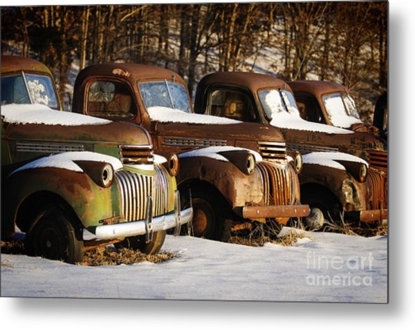 Rusty Trucks Metal Print