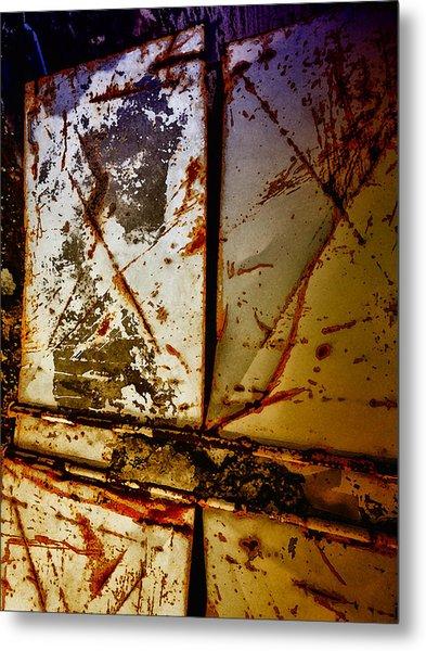 Rusty X Metal Print