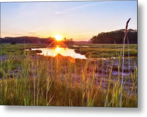 Rye Marsh Sunset Metal Print