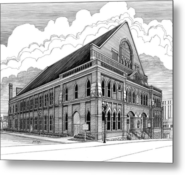 Ryman Auditorium In Nashville Tn Metal Print