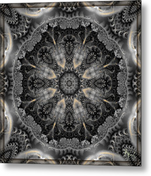 Metal Print featuring the digital art S-123 by Dennis Brady