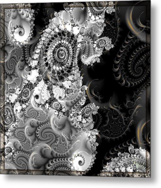 Metal Print featuring the digital art S-127 by Dennis Brady