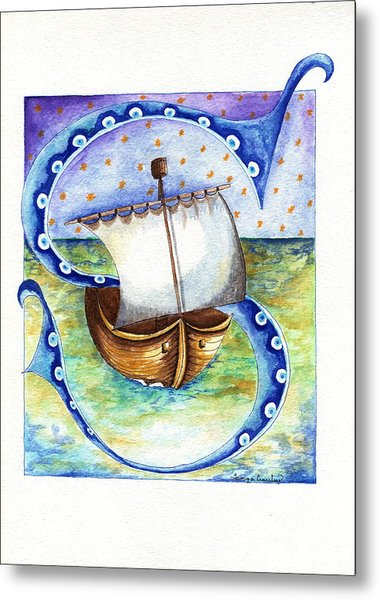 S Is For Sailing Metal Print