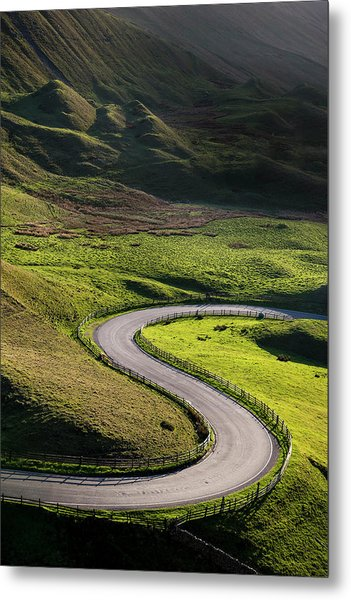 S Shaped Bend On A Country Road Metal Print by Photos By R A Kearton