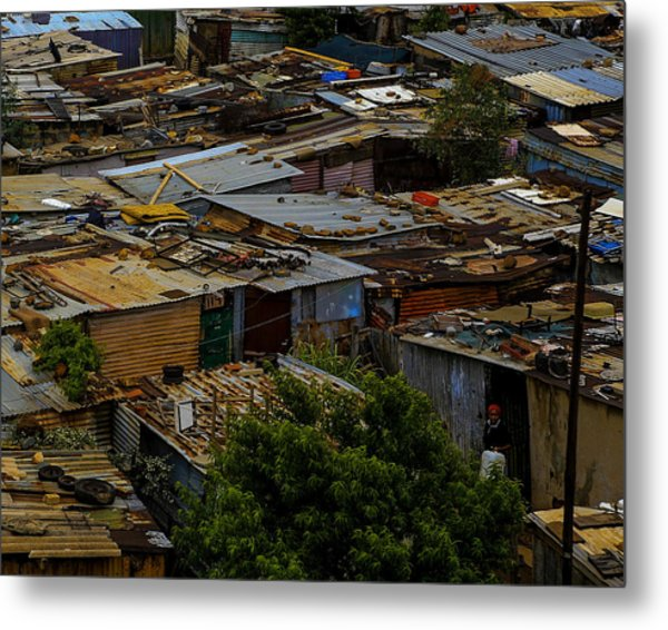 Sa Shanties Metal Print