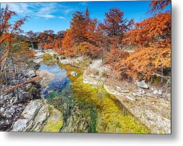 Sabinal River Magic Utopia Texas Hill Country Metal Print