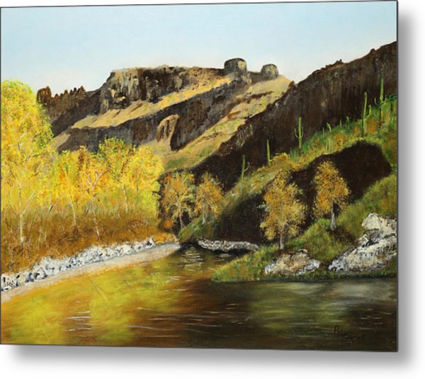 Sabino Autumn Metal Print by Rich Civiok