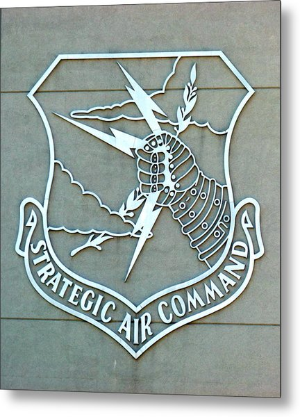 Metal Print featuring the photograph Sac Strategic Air Command by Jeff Lowe