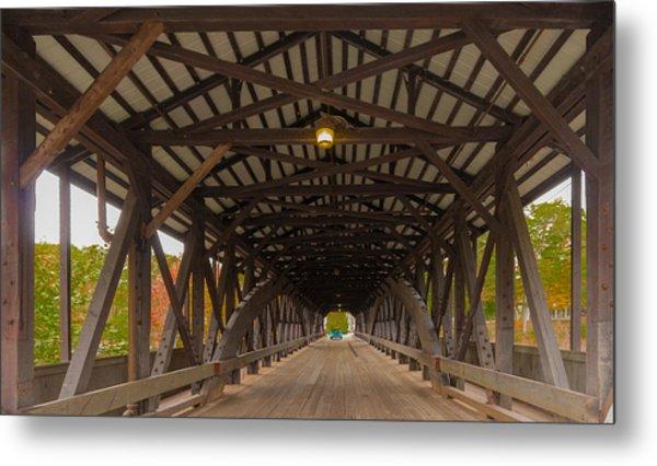 Saco River Bridge Metal Print