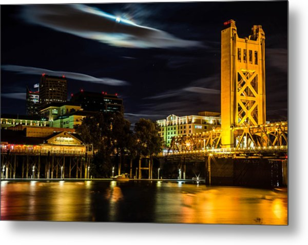 Sacramento Night Metal Print