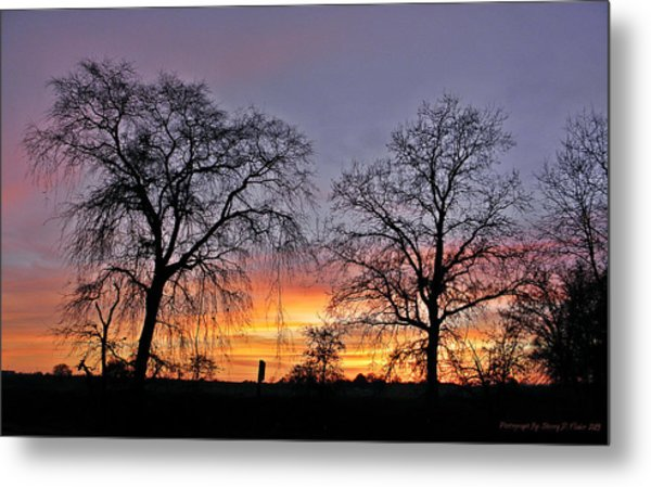Sacramento Sunset Metal Print
