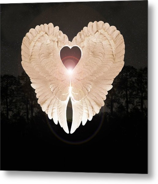 Metal Print featuring the digital art Sacred Angel by Eric Kempson