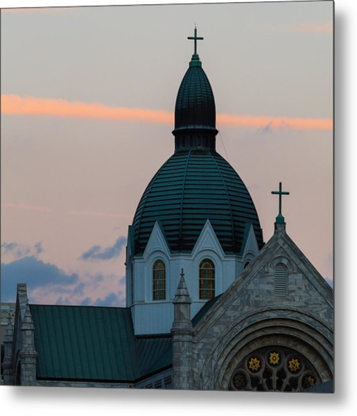 Metal Print featuring the photograph Sacred Heart At Sundown by Ed Gleichman