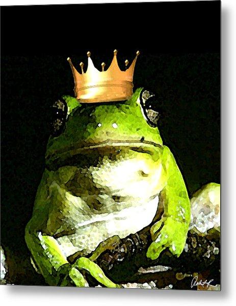 Sad Frog Prince - Digital Watercolor Print Metal Print