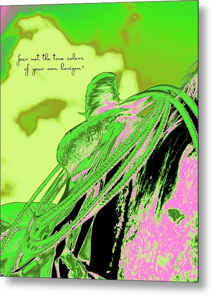 Saddle Electric Pink Metal Print