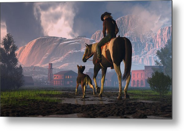 Saddle Tale Metal Print
