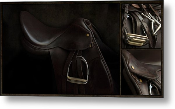 Saddle Triptych Metal Print