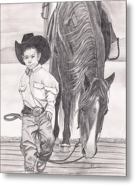 Saddle Up Partner Metal Print by Beverly Marshall