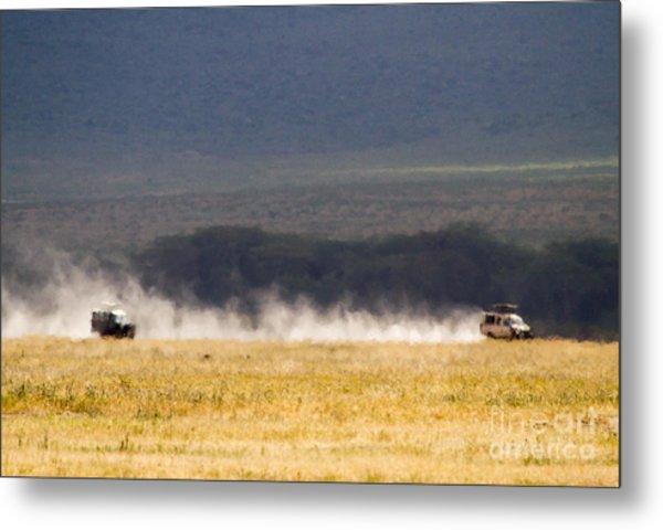 Safari Dust Metal Print by Chris Scroggins