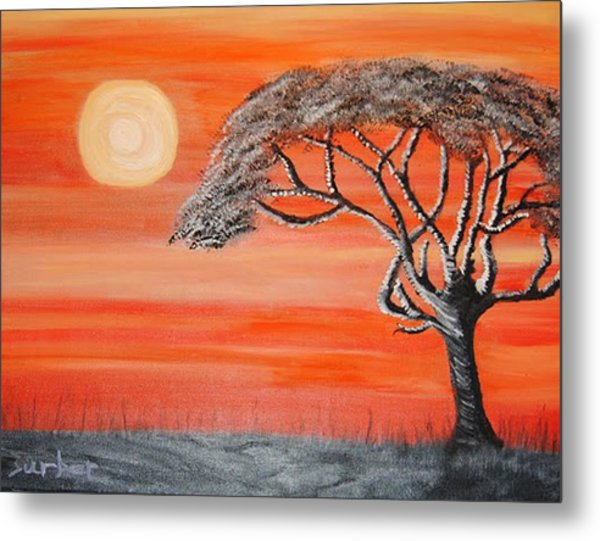 Safari Sunset 2 Metal Print