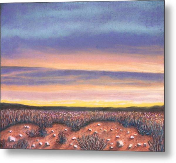 Sagebrush Sunset A Metal Print
