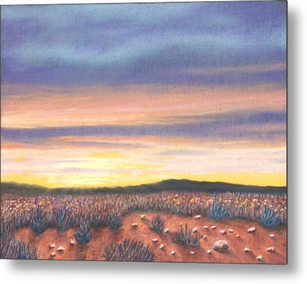Sagebrush Sunset B Metal Print