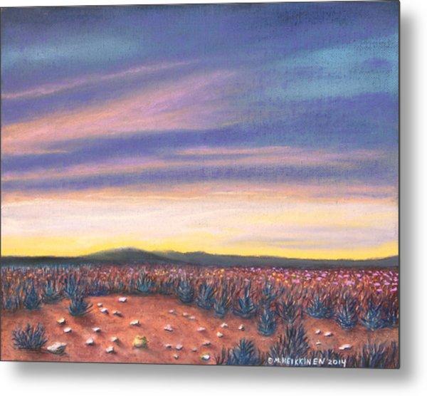 Sagebrush Sunset C Metal Print