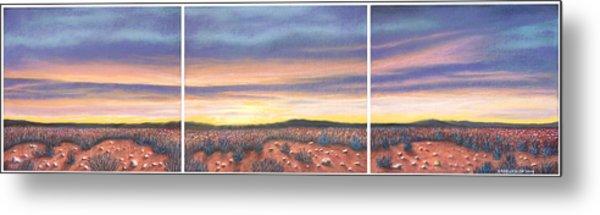 Sagebrush Sunset Triptych Metal Print