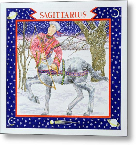 Sagittarius Wc On Paper Metal Print