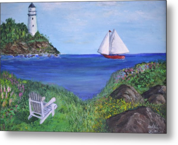 Lighthouse View Metal Print