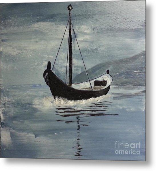 Sail-boat Metal Print
