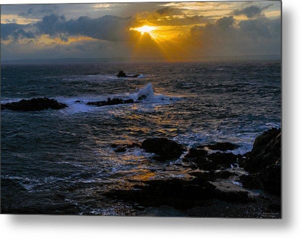 Sail Rock Sunrise Metal Print