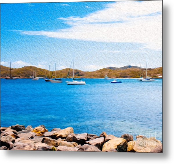 Sailboat Adventure In San Juan Puerto Rico Metal Print