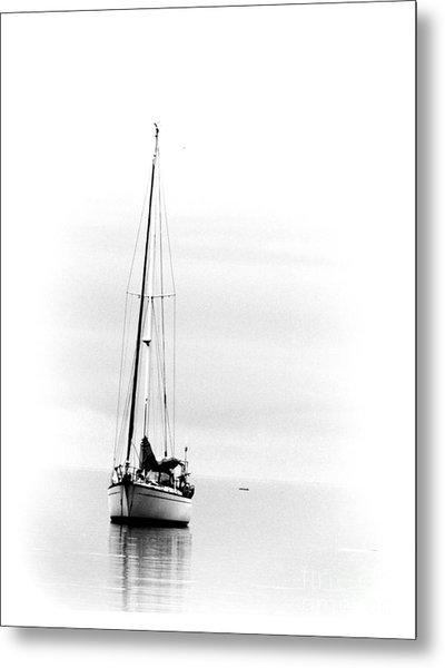 Sailboat Bw Too Metal Print