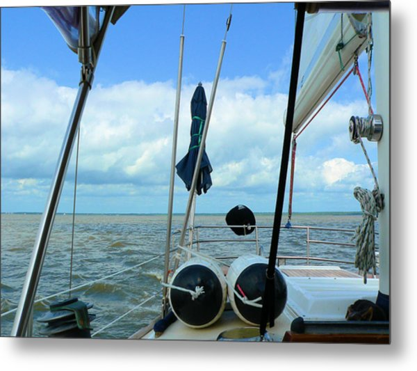 Sailboat View Horizontal Metal Print