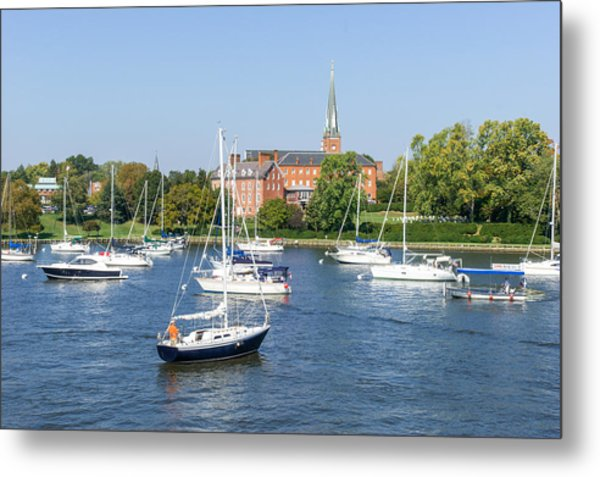 Sailboats By Charles Carroll House Metal Print