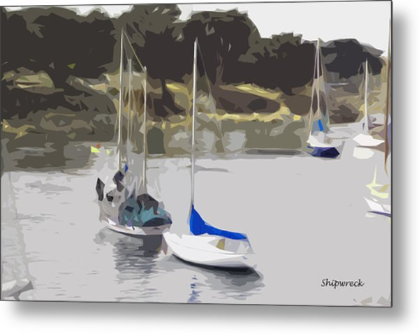 Sailboats Metal Print by Christopher Bage