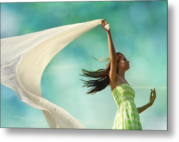 Sailing A Favorable Wind Metal Print