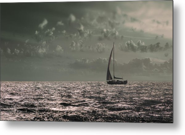 Sailing Metal Print by Akos Kozari
