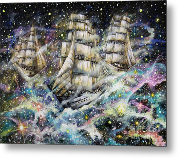 Sailing Among The Stars Metal Print