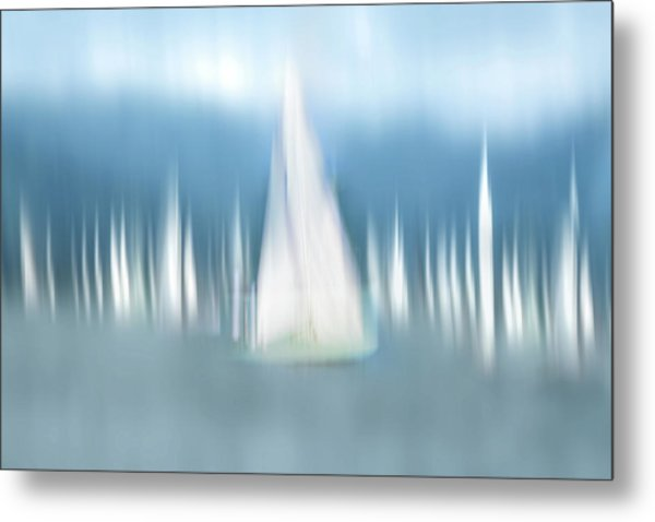 Sailing Metal Print by Anette Ohlendorf