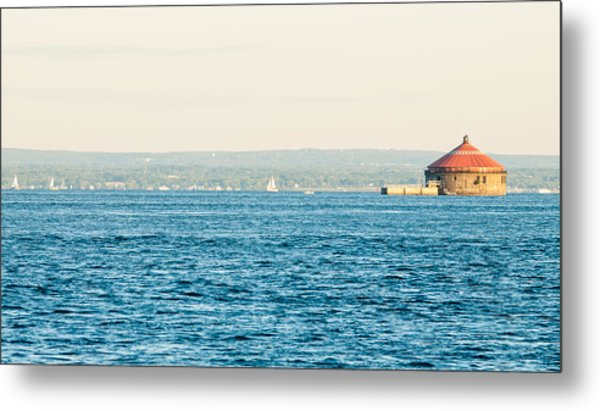 Sailing Around The Pump House Metal Print