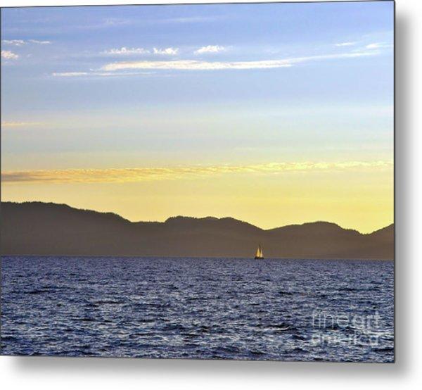 Sailing At Sunset - Lake Tahoe Metal Print