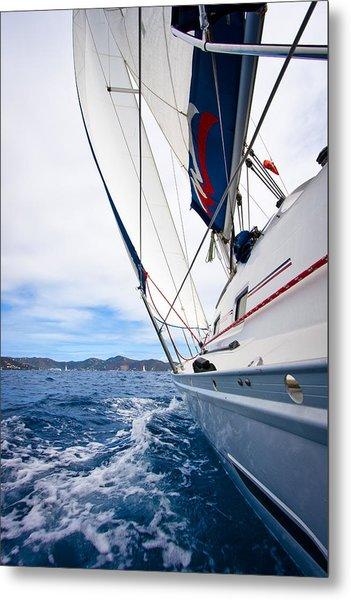 Sailing Bvi Metal Print