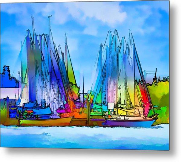 Sailing Club Abstract Metal Print