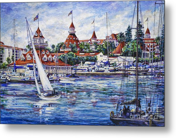 Sailing Glorietta Bay Metal Print