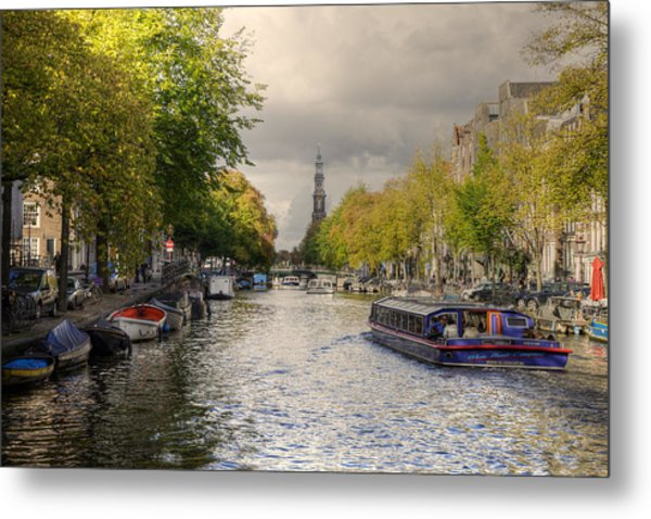Sailing In Amsterdam Metal Print